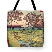 Toto Meguro Yuhhigaoka - Sunset Hill Meguro In The Eastern Capitol Tote Bag