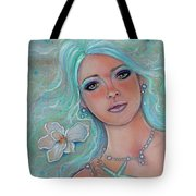 Touch Of Spring Mermaid Tote Bag