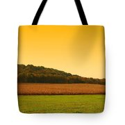 Touched By Golden Light - Battlefield Orchards Tote Bag