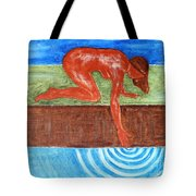 Touching The Stream Of Consciousness Tote Bag
