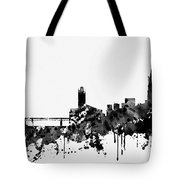 Toulouse Skyline-black Tote Bag