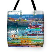 Tour Boats In Port Of Valparaiso-chile Tote Bag