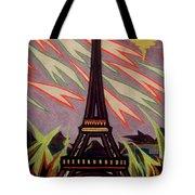 Tour Eiffel Et Ovni Tote Bag