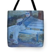 Tourist At Rest Tote Bag