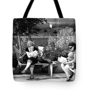 Tourists At Rest Tote Bag