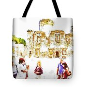 Tourists In The Castle Tote Bag