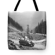 Tourists In Yellowstone Tote Bag