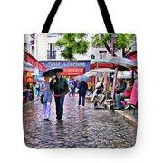 Tourists - Paris - Place Du Tertre Tote Bag