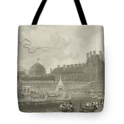 Tournay On The Seine During The July Fetes Tote Bag