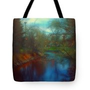 Toward The City Lights Tote Bag