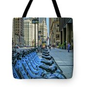 Towards Wrigley Building Tote Bag