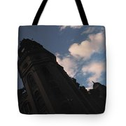 Tower And Clouds Tote Bag