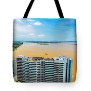 Tower And Guayas River Tote Bag