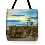 Tower And Rocks Tote Bag