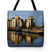 Tower Apartments In A Sunset Tote Bag