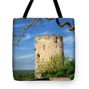 Tower At Chateau De Chinon Tote Bag