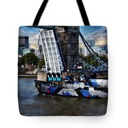 Tower Bridge And Boat Tote Bag