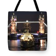 Tower Bridge And Hms Belfast Tote Bag