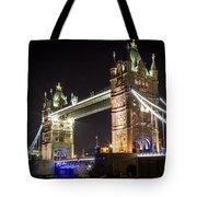 Tower Bridge At Night Tote Bag