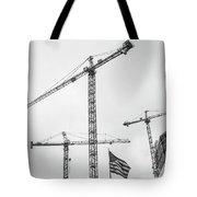 Tower Cranes Bw Construction Art Tote Bag