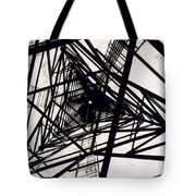 Tower Grid Tote Bag
