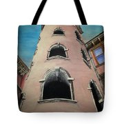 Tower In Lyon France Traboules Tote Bag