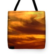 Tower In Sunset Tote Bag