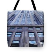 Tower Of Steel And Stone Tote Bag