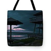 Tower Over The Shoreline Tote Bag