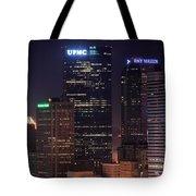 Towering Buildings Of Pittsburgh Tote Bag
