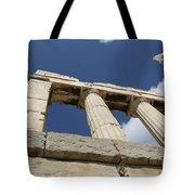 Towering Grecian Pillars Tote Bag