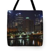 Towering Over The River Tote Bag