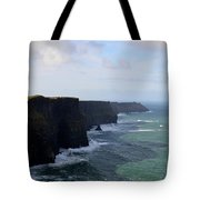Towering Sea Cliffs In Ireland's County Clare Tote Bag
