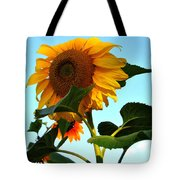 Towering Sunflower Tote Bag