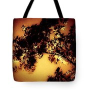 Towering Trees In The Twilight Tote Bag