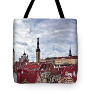 Towers Of The Tallinn Old Town Tote Bag