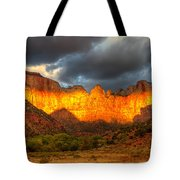 Towers Of The Virgin Two Tote Bag by Paul Basile