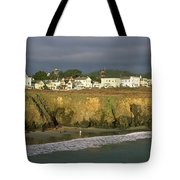 Town At The Seaside, Mendocino Tote Bag