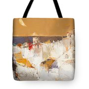 Town At The Seaside Tote Bag