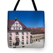 Town Hall And St. Martin Cathedral Tote Bag