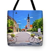 Town Of Bicycles Koprivnica Street View Tote Bag