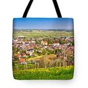 Town Of Ivanec Aerial Springtime View Tote Bag