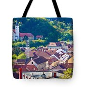 Town Of Krapina Rooftops View Tote Bag