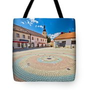 Town Of Ludbreg Square Vertical View Tote Bag