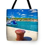 Town Of Tisno Harbor And Waterfront Tote Bag
