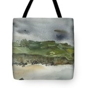Town On Hill Tote Bag