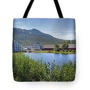 Town Square By The Pond At Waterville Valley Tote Bag