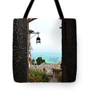 Town View In Italy Tote Bag