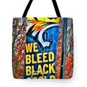 Towson Tigers Black And Gold Tote Bag