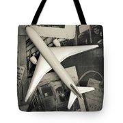Toy Airplane Vintage Travel Tote Bag